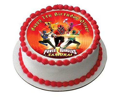 Power Rangers Personalisierte Kuchen Topper Puderzucker Papier 19,1cm Image S4