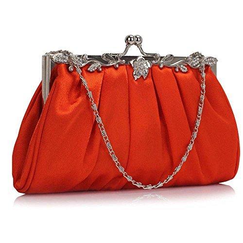Trendstar Femmes Embrayage Des Sacs Dames Cristal Soir Bal De Promo Des Parties Mariage De Des Sacs Orange