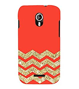 Fuson Designer Back Case Cover for Micromax Canvas Magnus A117 :: Micromax A117 Canvas Magnus (Red Gold Glitter Shining ZIgZag Lines)