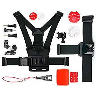 DURAGADGET Action Camera 17-in-1 Extreme Sports Accessories Bundle - Compatible with the Aoleca 4K Ultra HD Wide Angle Sports Action Camera