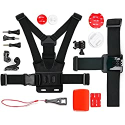 Kit d'accessoires complet pour VicTsing Full HD et VTIN Wi-Fi 1080P caméras de sport - idéal en Ski, Surf, Paddle board, Vtt ,kayak etc... - DURAGADGET