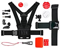 DURAGADGET Action Camera 17-in-1 Extreme Sports Accessories Bundle - Compatible with the Vivitar DVR785HD-BLU 5MP | Vivitar DVR995WHD-GRP-IT Action Camera