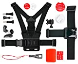 DURAGADGET Kit de accesorios completo compatible con Géonaute  G-Eye 300, 500 y 700 Full HD – cámaras de deporte – ideal en esquí, surf, Paddle Board, montaña, kayak etc