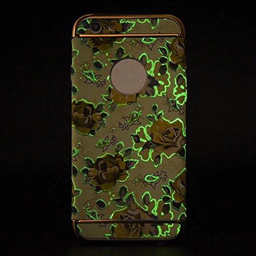 iPhone 6S Plus Hülle Case, iPhone 6 Plus Hart PC, Asnlove 3 in 1 Hülle Bumper Cover PC Plastik Harte Schutz Tasche Schale Hardcase Ultra Slim Schutzhülle Design Blume della Kornblume für Apple iPhone  Color-7