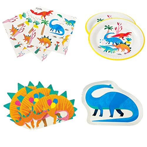 aurier-Partyzubehör und Dekorationen, Dinosaurier-Papierteller und Servietten ()