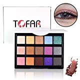 Palette di Ombretti Makeup Kit Make Up Professionale, TOFAR 15 Colori glitter luminoso Basi per Ombretto Cosmetici ombretto tavolozza High Pigment Cosmetics pallet ombretto con pennello - #2