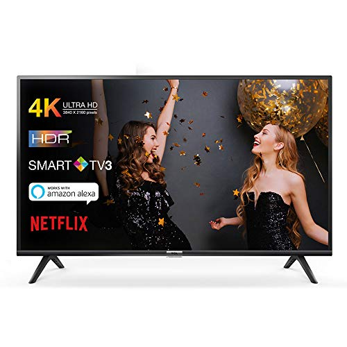 TCL 55DP602 televisore 55 pollici (Smart TV, 4K UHD, HDR, Dolby Digital Plus, T-Cast, Triple Tuner) Nero