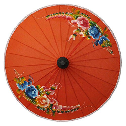 Sonnenschirm Asiaschirm Chinaschirm Dekoschirm Accessoire Ø 50 cm Dunkelorange