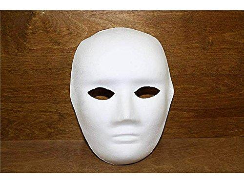 Maschera bianca viso intero per carnevale teatro danza classica halloween