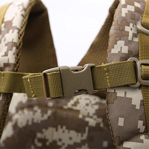 40l impermeabile in nylon militare campeggio borse/Military Army Patrol zaino da assalto combattimento tattico zaino Zaino di zaino per portatile da 10a 39,6cm, Black C