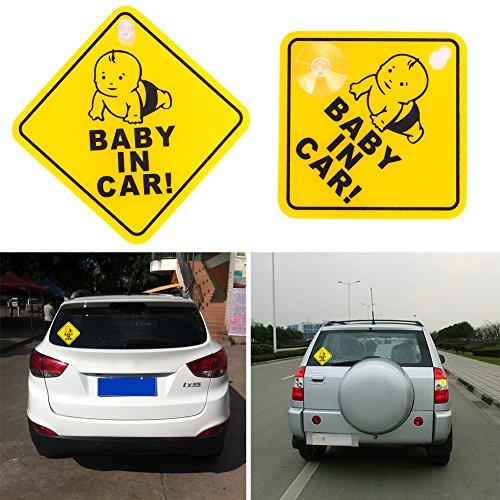 JWBOSS Sicherheitszeichen Decal Reflexfolie Aufkleber Awakening Kunststoff Gelb Baby Safe