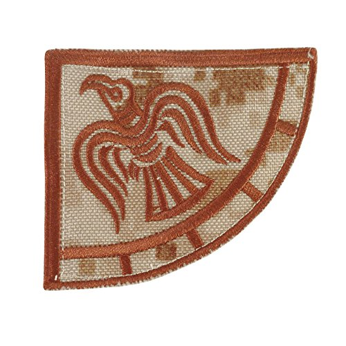 Raven Banner Desert AOR1 Cordura Odin God of War Morale Embroidery Touch Fastener Patch ()