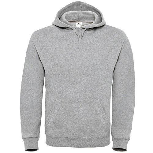B&C Collection Herren Modern Sweatshirt X-Large Gr. L, grau meliert (Crewneck Blue Distressed)