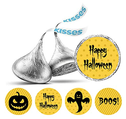 Darling Souvenir Halloween Theme Aufkleber für Hershey Kisses Schokolade Labels 190 PC-Gelb (Hershey Kisses Halloween)