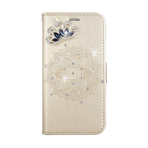AmberMa Schutzhülle für Samsung Galaxy Wallet Case Premium Klar Design PU Leder TPU stoßfest Kartenfächer Magnetverschluss Standfunktion Folio Flip Book Case Cover für Samsung Galaxy