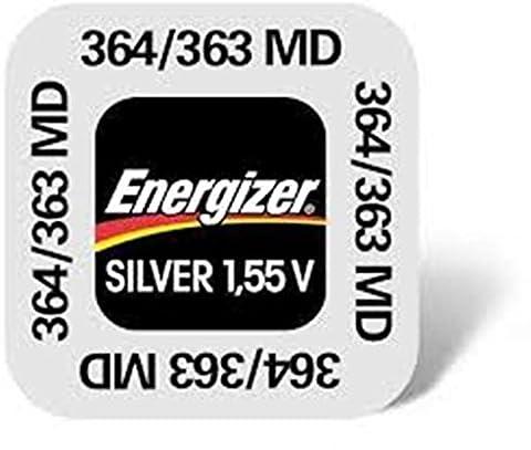 Energizer 363/364Silver Oxide Batteries, Button/coin, silver)