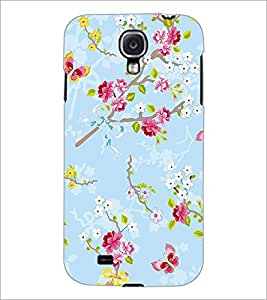 PrintDhaba Flowers and Butterfly D-1156 Back Case Cover for SAMSUNG GALAXY S4 (Multi-Coloured)