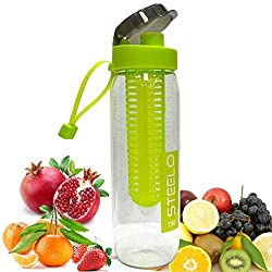 AIA New Sport Water Bottle Fruit Juice Infusing Infuser Health Lemon Juice Bottle With Lid Bpa Free Pack of 1 (Color May Vary) 750 ML