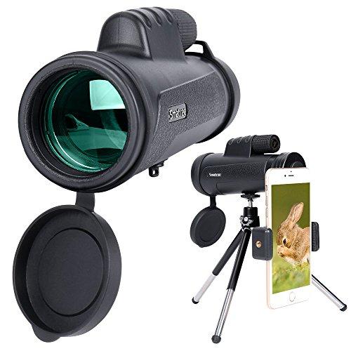 Monokular Teleskop, Smatree HD Monokular Wasserdicht & Stoßfest mit mobilem Adapter &Stativ für Camping, Vogelbeobachtung, Reisen, Garten, Natur, Tiere & auch für die Jagd