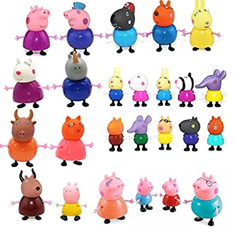 NEW MODELS 25 Pcs Cute Peppa Pig Toys Family Member Figures Different Model Dolls - Best Christmas Gift by (Besten Wii-spiele Weihnachten 2016)