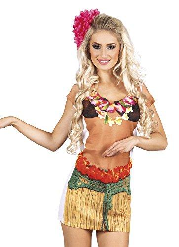 Boland 84270 Photorealistisches Shirt Hawaiian Girl, womens, M - Womens Hawaiian Shirt