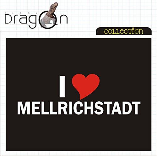 T-Shirt mit Städtenamen - i Love Mellrichstadt- Herren - unisex Schwarz