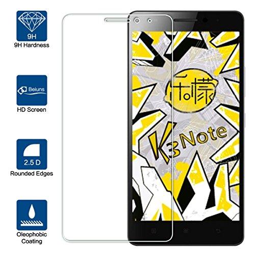 Beiuns Vidrio Templado Protector de Pantalla para Lenovo K3 Note K50-t5 4G LTE (pantalla: 5,5 pulgadas)
