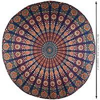 Mandala india Hippie Boho Bohemia Decoración gitana Redonda Estera de yoga Edredón Redonda Tapicería Playa Roundie