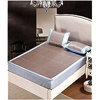Doppelseitige Gebrauchsbett-Matte - Eisseide Sommer Schlafmatten Haushalt Atmungsaktiv Faltbar Matten - natürlicher Bambus und Rattan Klappbett-Matte (größe : 1.5 * 2m) preisvergleich bei kinderzimmerdekopreise.eu