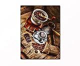 PB ART - Küchenbild Stillleben als Kunstdruck auf Leinwand und Holzkeilrahmen - Beste Qualität, handgefertigt in Deutschland! (120x80cm)