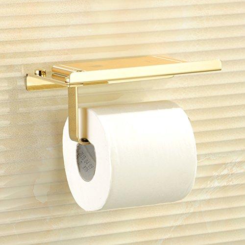 Regal von wc-papier für badezimmer,Edelstahl toilettenpapierhalter,Multifunktionale rack,Aufnahmeschale Kreativ Badezimmer Wc bad-accessoires Verschiedene stile 18 * 9 * 13 cm Golden toilettenpapierhalter-golden