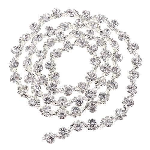 Fenteer 1 Yard Perlenband Perlenkette Perlenschnur Perlengirlande Dekogirlande Dekoband...