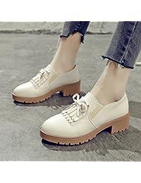 GAOLIM Primavera Hermana Suave Pequeños Zapatos Singles Femeninos Zapatos Gruesos Gruesos Con Pajarita Zapatos...