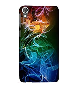 printtech Colored Smoke Back Case Cover for HTC Desire 820G+ dual sim
