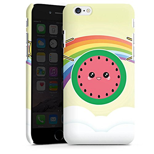 Apple iPhone X Silikon Hülle Case Schutzhülle Sonne Melone Regenbogen Premium Case matt
