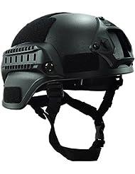 MICH 2000combate casco protector con carril lateral y montaje NVG negro para Airsoft táctico militar Paintball caza