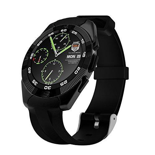 Kivors Bluetooth Smart Watch Fitness Tracker Uhr mit Herzfrequenz Armband Aktivität Tracker Gesundheit Schrittzähler Monitor Sport Armband Armbanduhr Telefon für iPhone IOS und Android Smartphones