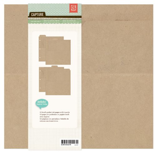 Carte Postale 20,3x 20,3cm BASIC grau Kraft Album Ring Binder