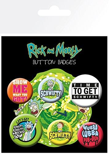 GB eye Ltd, Rick y Morty, Quotes, chapas