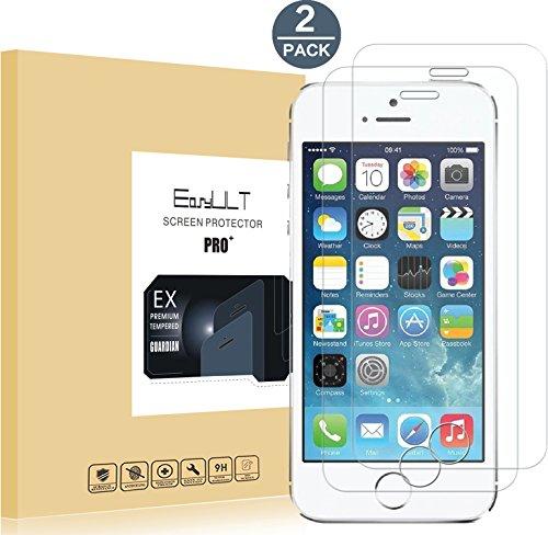 Verre Trempé iPhone SE/iPhone 5/iPhone 5s/iPhone 5c[2-Pièces],EasyULT iPhone SE/iPhone5/iPhone 5s/iPhone 5c Vitre Verre Trempé Protecteur d'écran Protection Glass Tempered Screen Protector