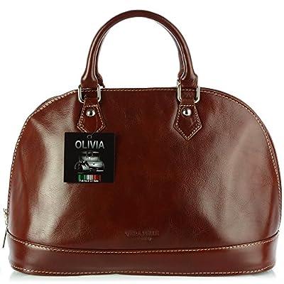 OLIVIA * Sac à main 100% Cuir véritable * Réf. VENISE * Cuir de haute qualité * sac noir, marron, rouge
