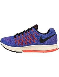 Nike Wmns Air Zoom Pegasus 32, Zapatillas de Running Mujer, Azul (Rcr Bl / Blk-Hypr Orng-Brght Mng), 43/44 EU