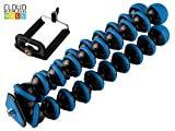 #6: Cloud Mall 10 inch Lightweight Flexible Gorillapod Tripod With Mobile Attachment For DSLR, Action Cameras, Digital Cameras & Smartphones - Black and Blue