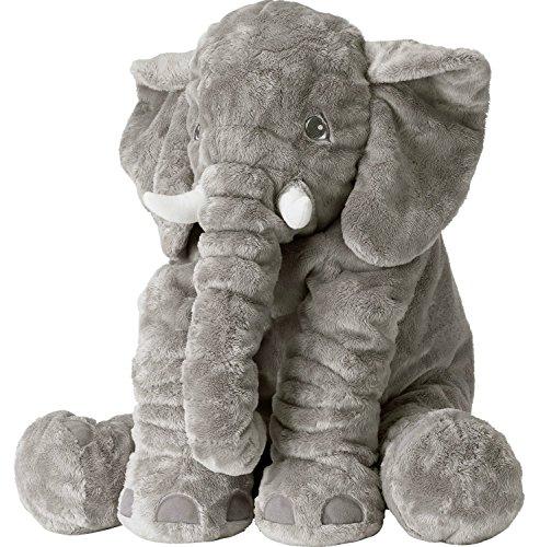 """Smartbaby hochwertiger Plüschelefant """"Fridolin"""" – ca 60 cm – grau – Plüschtier und Spielzeug – perfekt als Geschenk oder Dekoration geeignet – begeistert die ganze Familie"""