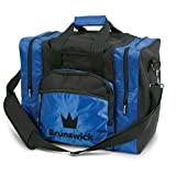 Brunswick Edge 1-Ball-Bowling-Tasche für 1 Bowlingball, Bowlingschuhe und Bowlingzubehör (Blau)