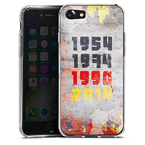 Apple iPhone X Silikon Hülle Case Schutzhülle Deutschland Weltmeister Fußball Silikon Case transparent