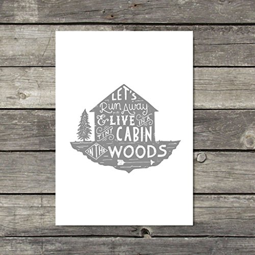 rustic-wall-art-wilderness-print-cabin-in-the-woods-art-grey-wall-decor-traveller-gift