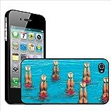 Fancy A Snuggle – Carcasa rígida para iPhone 4 y 4s, diseño de piernas de nadadoras de natación sincronizada