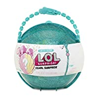 Limited-edition Doll and Lil Sister 6 pearl surprise balls 1 shell-shaped doll stand Glitter case becomes purse, storage case and bath playset To prevent overflow, fill with water below the line of bubbles inside the container Don't touch the...