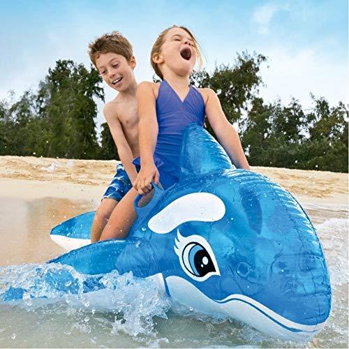 Trade shop traesio- orca cavalcabile gioco gonfiabile per bambini 152x144cm mare piscina blu